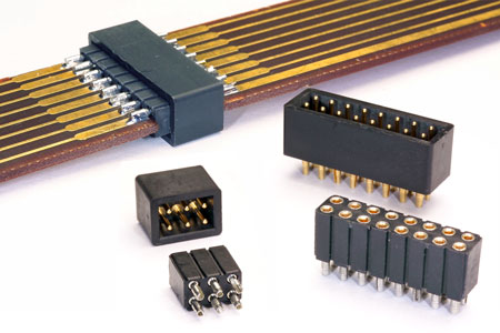 Machined Pins Used As A Card Edge To Card Edge Connector