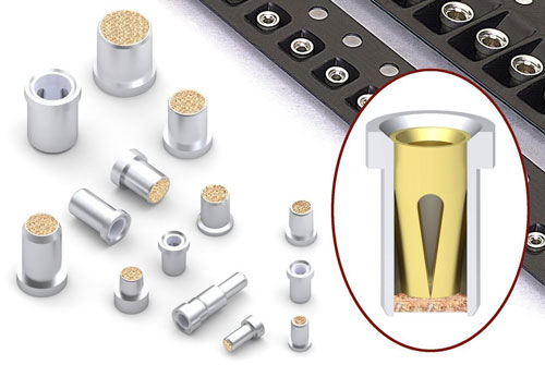 Solder Barrier Pin Receptacles & Sockets with OFP® Knockout Bottom