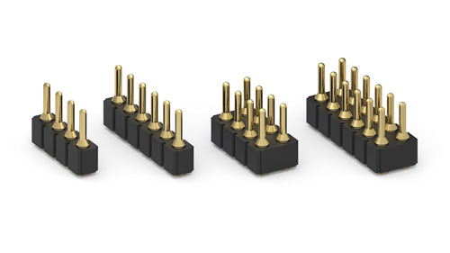 "SMT headers with .030"" (0,76mm) Diameter Pins"