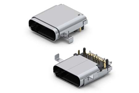 Mid-Mount SuperSpeed USB 3.1 Type C Receptacle