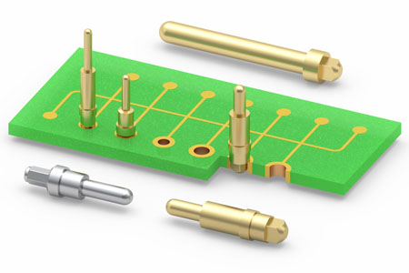 Press-fit PCB Pins for Plated Through-Holes