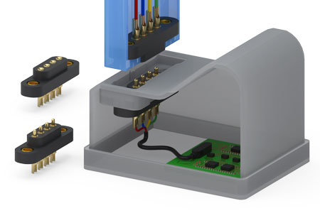 Rugged, Spring-Loaded Wire Termination Connectors
