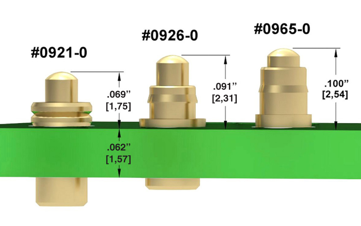 Ultra-Low and Low Profile Spring (Pogo) Pins