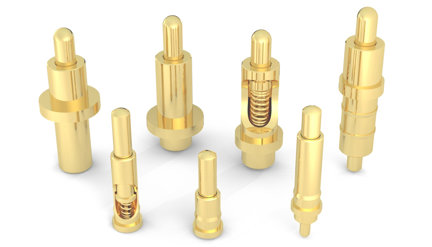 Rugged, High Current Spring-Loaded Pogo Pins