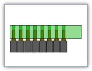 Double Row 16 Position Connector