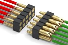 Spring-Loaded Connectors For Wire termination